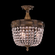 Worldwide W33353B12-CL Winchester Antique Bronze Finish 12  Wide Flush Mount Light Fixture