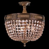 Worldwide W33353B16-GT Winchester Antique Bronze Finish 15  Tall Flush Mount Lighting Fixture