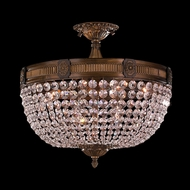 Worldwide W33353B20-CL Winchester Antique Bronze Finish 20  Wide Flush Ceiling Light Fixture