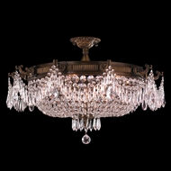 Worldwide W33354B30-CL Winchester Antique Bronze Finish 18 Tall Ceiling Lighting