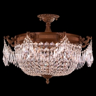 Worldwide W33354FG24-CL Winchester French Polished Gold Finish 16 Tall Ceiling Light Fixture