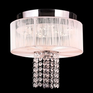 Worldwide W33954C12-WT Alice Polished Chrome Finish 10  Tall LED Ceiling Light Fixture