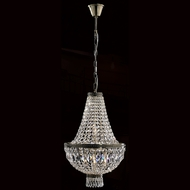 Worldwide W83088B16 Metropolitan Crystal Antique Bronze Finish 16  Wide Mini Chandelier Light
