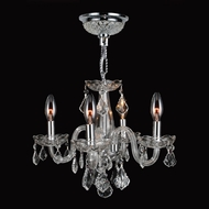 Worldwide W83100C16-CL Clarion Polished Chrome Finish 12  Tall Mini Lighting Chandelier