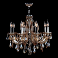 Worldwide W83121C20-AM Catherine Polished Chrome Finish 20  Wide Mini Lighting Chandelier