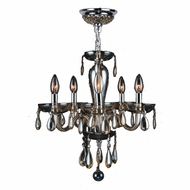 Worldwide W83127C16-GT Gatsby Traditional Polished Chrome Finish 16  Wide Mini Chandelier Lamp