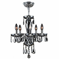 Worldwide W83127C16-SM Gatsby Traditional Polished Chrome Finish 18  Tall Mini Chandelier Light
