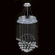 Worldwide W83201C16 Saturn Polished Chrome Clear Halogen Multi Hanging Pendant Lighting