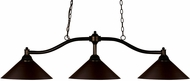 Z-Lite 147BRZ-MBRZ Chance Bronze Island Light Fixture