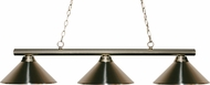 Z-Lite 155-3BN-MBN Sharp Shooter Brushed Nickel 10  Tall Kitchen Island Light