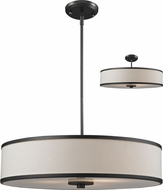 Z-Lite 165-24 Cameo Cr�me/Bronze 53.5  Tall Drum Hanging Lamp / Ceiling Fixture