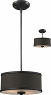 Z-Lite 166-12 Cameo Factory Bronze 53.5  Tall Drum Hanging Pendant Lighting / Ceiling Light