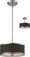 Z-Lite 167-12 Cameo Brushed Nickel 53.5  Tall Drum Ceiling Light Pendant / Ceiling Fixture