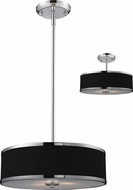 Z-Lite 168-16 Cameo Chrome 15.63  Wide Drum Hanging Lamp / Ceiling Fixture