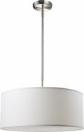 Z-Lite 171-20W-C Albion Brushed Nickel 20  Wide Drum Hanging Lamp