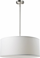 Z-Lite 171-24W-C Albion Brushed Nickel 10  Tall Drum Pendant Lighting Fixture