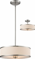 Z-Lite 183-16 Cameo Brushed Nickel 53.5  Tall Drum Hanging Light / Ceiling Light