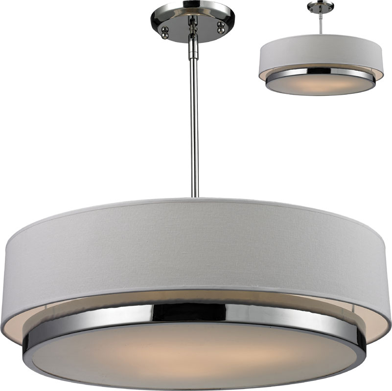 "Z Lite 186 22 Jade Chrome 22"" Wide Drum Ceiling Light"