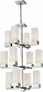 Z-Lite 190-12 Sapphire Contemporary Chrome 73  Tall Ceiling Chandelier