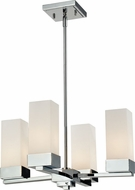 Z-Lite 190-4 Sapphire Contemporary Chrome 48.25  Tall Mini Hanging Chandelier