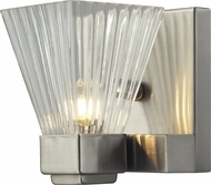 Z-Lite 1910-1S Iluna Brushed Nickel 4.25  Wide Halogen Wall Mounted Lamp