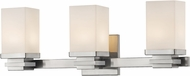 Z-Lite 1916-3V-BN-LED Avige Brushed Nickel LED 3-Light Bathroom Vanity Light