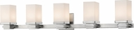 Z-Lite 1916-5V-BN-LED Avige Brushed Nickel LED 5-Light Bathroom Wall Sconce