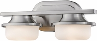 Z-Lite 1917-2V-BN-LED Optum Modern Brushed Nickel LED 2-Light Bathroom Lighting Sconce