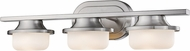 Z-Lite 1917-3V-BN-LED Optum Contemporary Brushed Nickel LED 3-Light Bathroom Wall Light Fixture