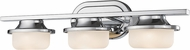 Z-Lite 1917-3V-CH-LED Optum Contemporary Bronze LED 3-Light Lighting For Bathroom
