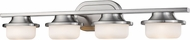 Z-Lite 1917-4V-BN-LED Optum Modern Brushed Nickel LED 4-Light Bath Lighting