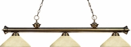 Z-Lite 200-3AB-AGM14 Riviera Antique Brass Angle Golden Mottle Island Lighting