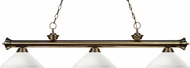 Z-Lite 200-3AB-AMO14 Riviera Antique Brass Angle Matte Opal Kitchen Island Lighting