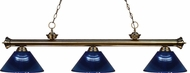 Z-Lite 200-3AB-ARDB Riviera Antique Brass Dark Blue Island Light Fixture