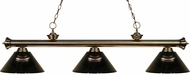 Z-Lite 200-3AB-ARS Riviera Antique Brass Smoke Island Lighting