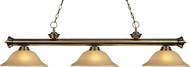 Z-Lite 200-3AB-GL16 Riviera Antique Brass Golden Linen Kitchen Island Light Fixture
