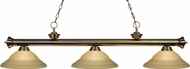 Z-Lite 200-3AB-GSW16 Riviera Antique Brass Golden Swirl Kitchen Island Lighting