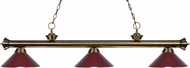 Z-Lite 200-3AB-MDW Riviera Antique Brass Dark Wine Island Lighting