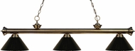 Z-Lite 200-3AB-PBK Riviera Antique Brass Black Island Light Fixture