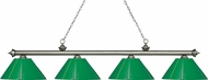 Z-Lite 200-4AS-PGR Riviera Antique Silver Green Kitchen Island Lighting