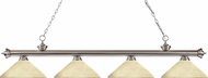 Z-Lite 200-4BN-AGM14 Riviera Brushed Nickel Angle Golden Mottle Island Lighting