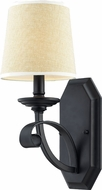 Z-Lite 2001-1S Charleston Matte Black 5.875  Wide Wall Sconce