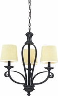 Z-Lite 2001-3 Charleston Matte Black 21.75  Wide Mini Chandelier Lamp