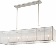 Z-Lite 202-45WH Aura Brushed Nickel Island Light Fixture