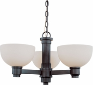 Z-Lite 314-3C-BRZ Chelsey Dark Bronze 23  Wide Mini Chandelier Lighting