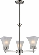 Z-Lite 319-3 Pershing Polished Nickel 17  Wide Mini Chandelier Light