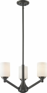 Z-Lite 411-3 Montego Coppery Bronze 20.625  Wide Mini Chandelier Lighting