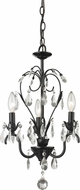 Z-Lite 418BK Princess Chandeliers Traditional Gloss Black 22.125  Tall Mini Chandelier Light