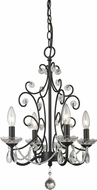 Z-Lite 421BK Princess Chandeliers Traditional Gloss Black 15.375  Wide Mini Chandelier Lamp