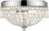 Z-Lite 431F3-CH Danza Chrome Ceiling Light